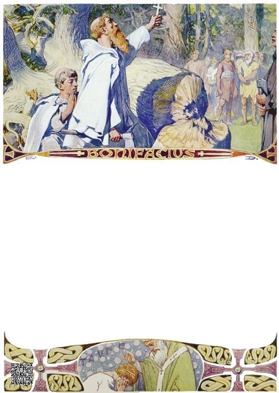 08-Bonifatius nadat de Donarseik werd geveld