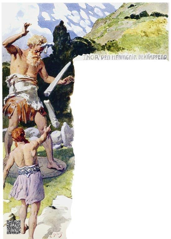 20-Thor vecht met Hrungnir
