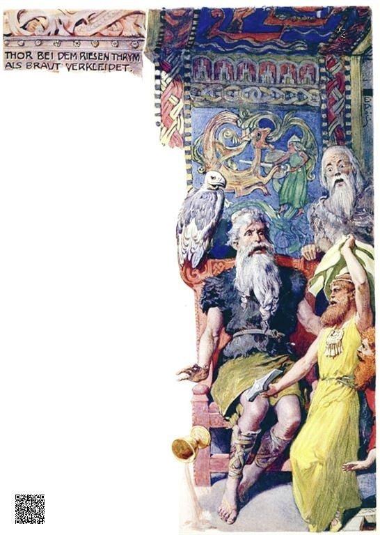 21-Thor als Braut bei dem Riesen Thrym