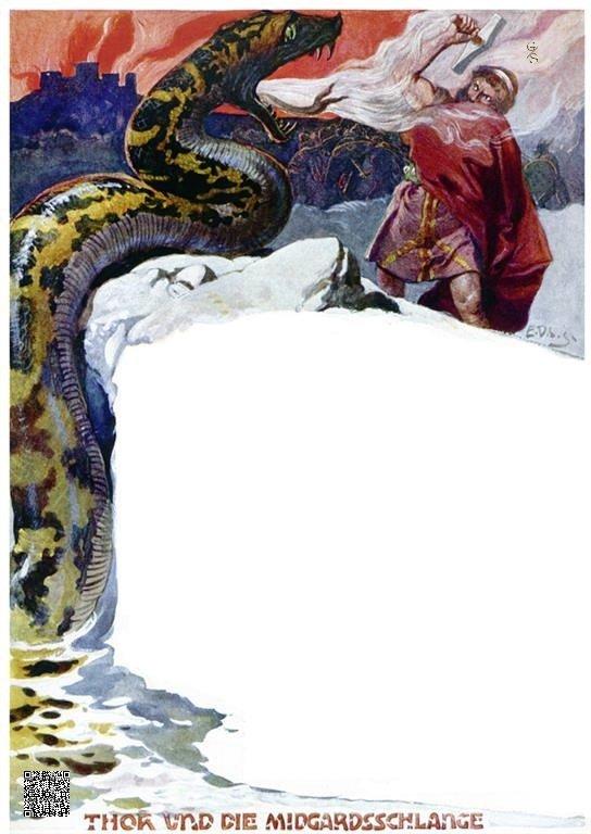 48-Thor kämpft mit der Midgardschlange