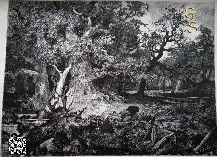 Deutscher Urwald in alten Zeiten