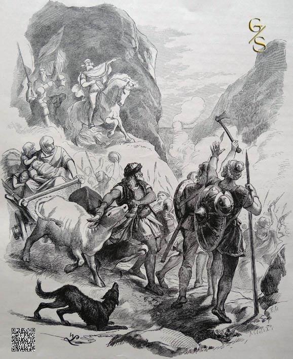 Die Goten überschreiten die Alpen