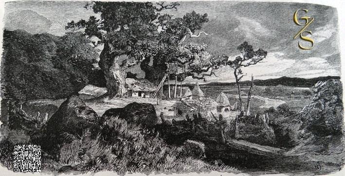Landgoed van een oudgermaanse edelman