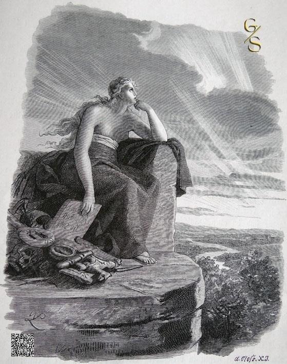 Veleda, die Prophetin der Brukterer
